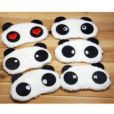 Panda Face Eye Travel Sleep Cute Lightproof Mask Blindfold Portable Nap Cover  H