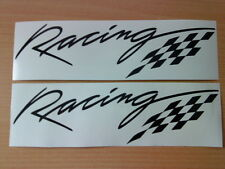 racing flag vinyl car sticker x2 graphic decal vauxhall peugeot rally stock fun