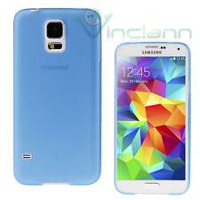 2X Pellicola+Custodia sottile 0,3mm Azzurro per Samsung Galaxy S5 SV SM-G900F