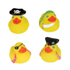 SET OF 4 PIRATE THEMED RUBBER DUCK DUCKIES NOVELTY TOY COLLECTABLE GIFT IDEA