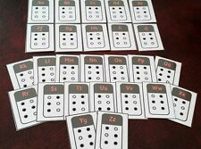 BRAILLE FLASH CARDS-  ALPHABET LETTERS- RAISED DOTS Visually impaired SEN EYFS