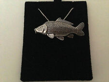 F35 Common Carp on a 925 sterling silver Necklace Handmade 26 inch chain