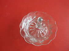 VINTAGE  GLASS RING HOLDER HAS  Ro  NUMBER   HAS SOME AGE