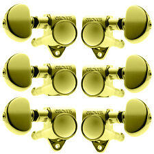 Grover Rotomatic Guitar Tuning Machines - 14:1 Ratio - 3 per side - Gold - 102G