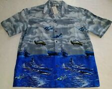 Aloha Republic NWT Shirt Mens L Button Front Bomber Planes Aircraft War Veteran