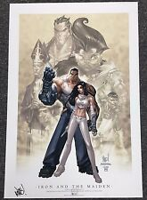ASPEN IRON AND THE MAIDEN 1B ART PRINT SIGNED JOE MADUREIRA Turner Limited to 50