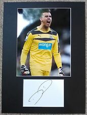 Karl Darlow Authentic Hand Signed Newcastle United Display AFTAL Football