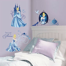 CINDERELLA GLAMOUR wall stickers 31 decals Disney princess decor slipper coach