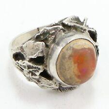 VTG Sterling Silver - Southwestern Boulder Opal Signet Ring Size 8 - 10.3g