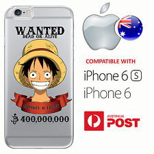 iPhone 6 6S Silicone Case Cover One Piece Wanted Monkey D. Luffy Anime Bounty