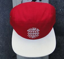 The Hundreds Red/Cream World Wide Mens 5 Panel Camp Strap Snapback Hat Cap