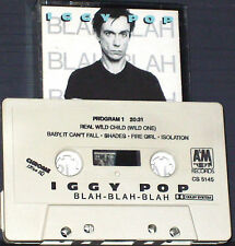IGGY POP BLAH BLAH BLAH CASSETTE ALBUM USA ISSUE Alternative New Wave Rock