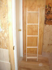 "5' blanket ladder, wooden ladder, wood ladder unfinished pine, 60"" quilt ladder"