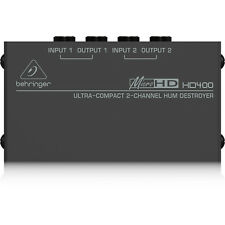 Behringer HD400 MicroHD 2-Channel Hum Eliminator in Compact Form