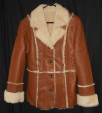 Vtg. Women's Shearling Coat Basic Style Excelled Collection Size Small