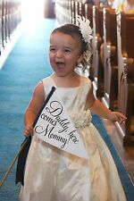 Daddy Here Comes Mommy Wedding Sign Handmade Small Banner Son Daughter Banner