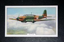 Fairey Battle    RAF Bomber    1930's Vintage Colour Card  #  VGC
