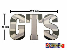 GTS Sticker Fits Vespa Legshield or Fly Screen - Black Union Jack Decal LT16
