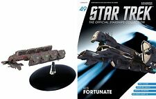 Eaglemoss Diecast Star Trek ECS Fortunate ST0049 & MAGAZINE 49 Y-class freighter