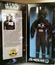 "1997 STAR WARS TIE FIGHTER PILOT 12"" POSEABLE FIGURE/DOLL KENNER"