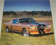 1965 Ford  Shelby  Mustang GT350  car print  (gold & black, modified)