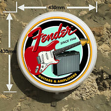FENDER GUITAR ELECTRIC  Light Box LED Games Room Sign man cave garage workshop