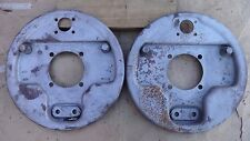1939 1948 Ford FRONT JUICE BRAKE BACKING PLATES Original deluxe hydraulic