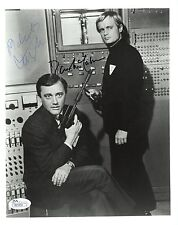 ROBERT VAUGHN + DAVID MCCALLUM SIGNED 8x10 PHOTO    MAN FROM UNCLE    RARE   JSA