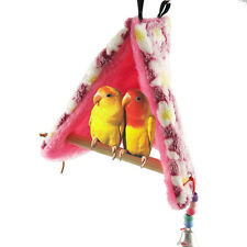 Bird Parrot Hammock Perch Tent Hanging Swing Toy Bed Hut Hideaway Cave Cage Bunk