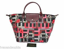 Longchamp * Le Pliage Medium Top Handle Bag Memphis Red Ivanandsophia