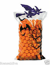 HALLOWEEN WITCH TREAT BAGS! DO IT YOURSELF! SET OF 6 BAGS/GLITTER! SCHOOL FUN!
