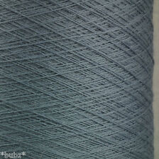 ITALIAN PURE MERINO WOOL 2/30s - PEWTER GREY - LACEWEIGHT YARN 1 2 PLY LINEA PIU