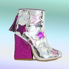 YRU Jem Glitter Boot - Silver size 10 new in box