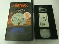 ANTHRAX - THROUGH TIME POV1987 VHS VIDEO TAPE 5019852000569