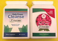 Wild Raspberry Ketone Xtreme 60 Caps & Daily Power Cleanse Xtreme 60 Caps