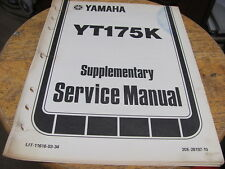 Yamaha YT175K Supplementary Service Manual 17 pgs
