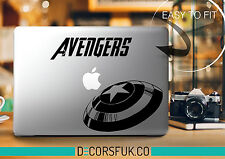 Avengers Macbook Stickers on black vinyl | Laptop stickers | Macbook Decals