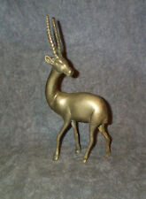"Brass or Bronze Antelope, Gazelle,Oryx, Impala or Deer Deco Sculpture 10.5"" Cast"
