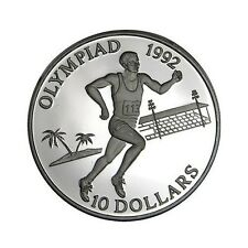 elf Solomon Isl 10 Dollars 1991 Olympics Running