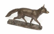 "Fox bronze Resin Sculpture "" Mr Todd "" by David Geenty   Hunting Gift"