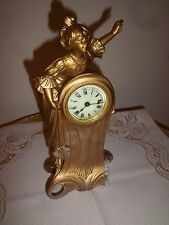 SMALL ANTIQUE ANSONIA FIGURAL, SHELF, OR MANTEL CLOCK, DATED PAT D MAY 3RD 1892