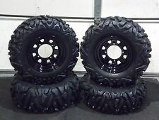 "POLARIS SPORTSMAN 25"" QUADKING ATV TIRE- ITP BLACK ATV WHEEL KIT BIGGHORN"