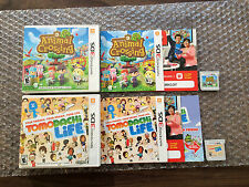 Animal Crossing: New Leaf + Tomodachi Life (Nintendo 3DS LOT) Complete - Tested