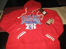 WOMENS PHILADELPHIA 76ERS SIXERS MITCHELL & NESS HOODIE RED M MEDIUM  NWT