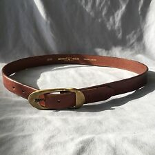 Very Cool Emporio Armani Brown Leather Gold plated buckle belt Sz 80
