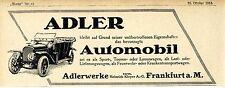 Adler-Automobil Werke Frankfurt a.M. Historische Annonce 1913