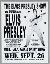 "Elvis Presley Tupelo Dairy Show 16"" x 12"" Photo Repro Concert Poster"