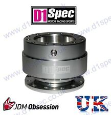 D1 SPEC UNIVERSAL STEERING WHEEL RACING QUICK-RELEASE SILVER JDM DRIFT