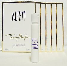 THIERRY MUGLER ALIEN  '6' INDIVIDUAL 1.5 ML  PERFUME SPRAYS+1 COACH POPPY VIAL