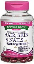 Nature's Truth Superior Strength Hair/Skin/Nails with Argan/Coconut Oil/C...